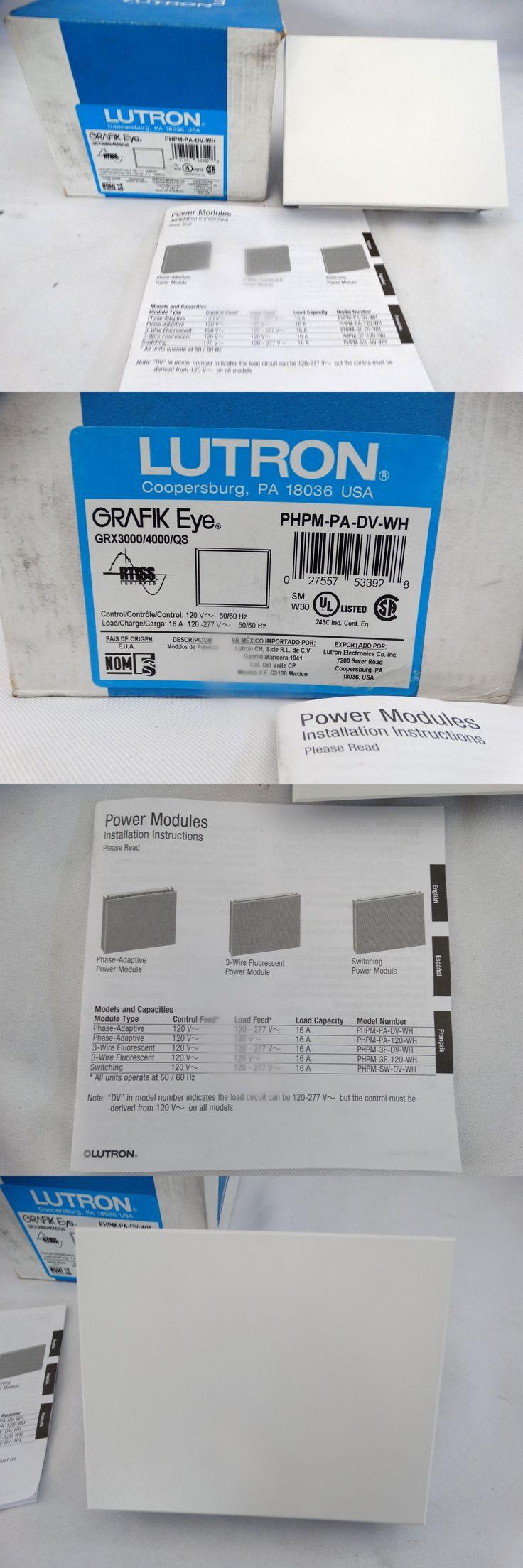 Home Automation Modules: Lutron Grafik Eye Grx3000 4000 Qs Phpm-Pa-Dv-Wh Phase Adaptive Power Module 16A -> BUY IT NOW ONLY: $89.99 on eBay!