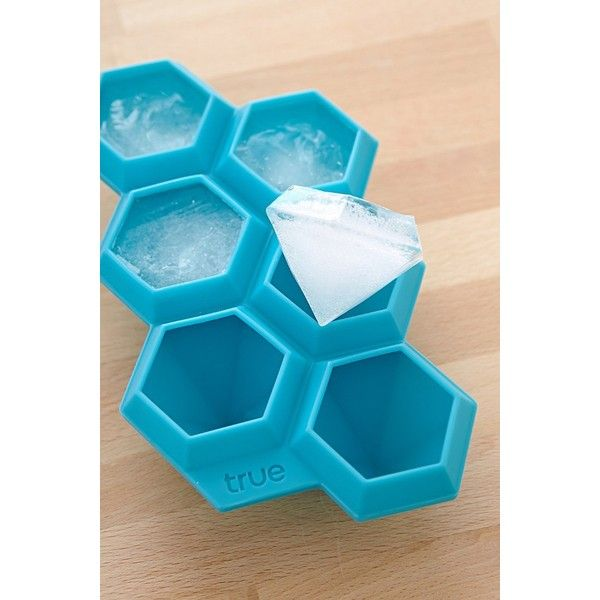 Diamond Ice Cube Tray ($14) ❤ liked on Polyvore featuring home, kitchen & dining, kitchen gadgets & tools, kitchen, silicon ice tray, ice molds, ice cube trays, silicon ice cube tray and urban outfitters