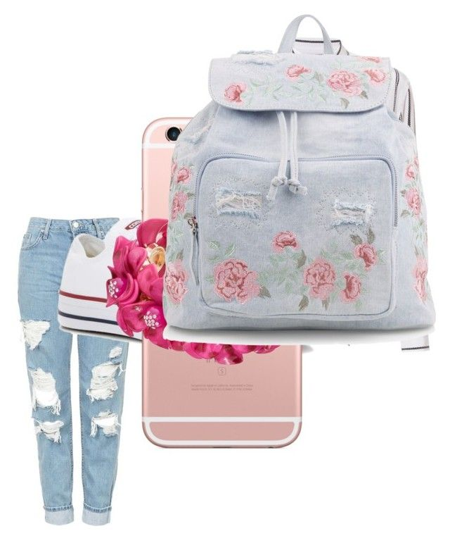 """Untitled #63"" by valentina-carvajal92005 on Polyvore featuring Topshop, Equipment, Converse and New Look"