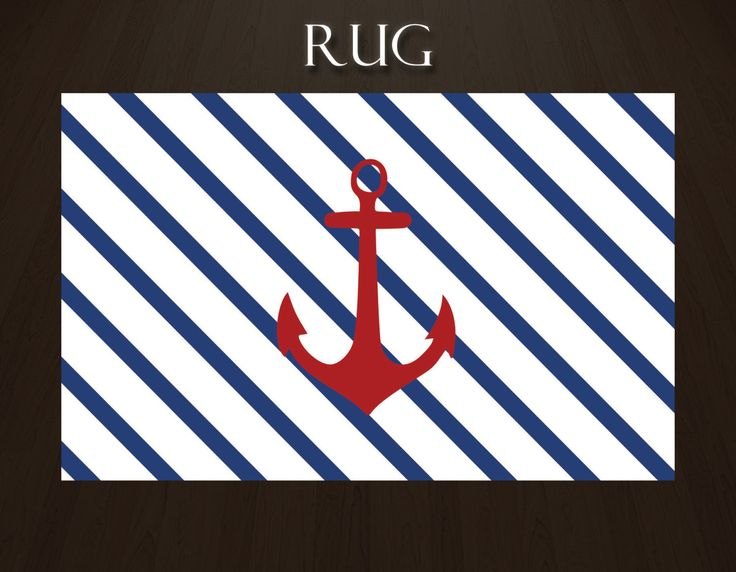 Nautical Stripe Rug, Anchor Rug, Blue And White Striped Rug, Blue And White  Area Rug, Nautical Nursery Rug, Red White And Blue Rug #20 By EloquentIu2026