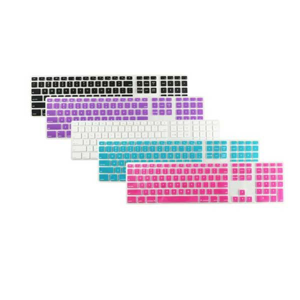 Ultra Thin Silicone US Keyboard Skin Protector Cover For iMac - US$3.18