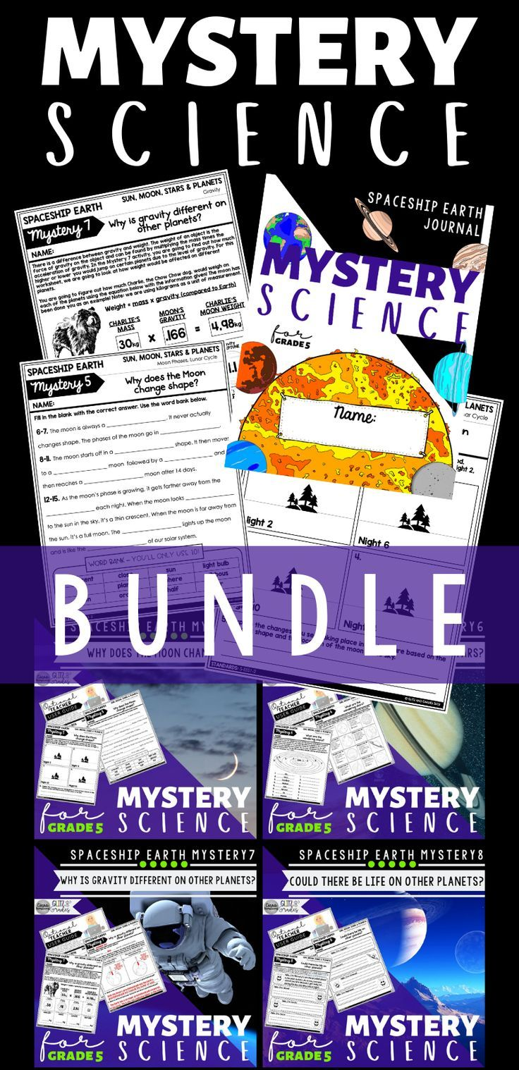 This Mystery Science Bundle covers all 8 Mysteries in the 5th Grade  Spaceship Earth Unit…   Mystery science [ 1518 x 736 Pixel ]