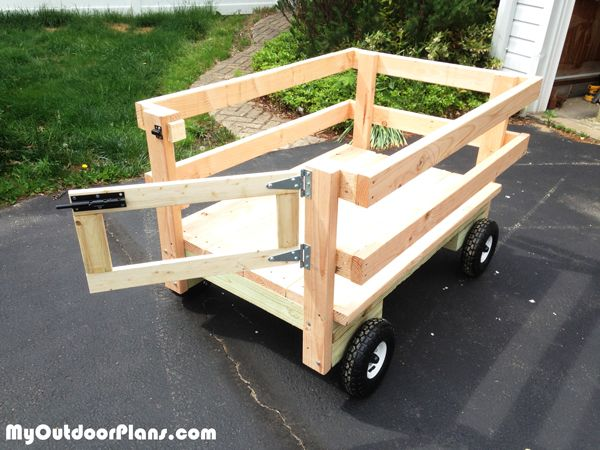 Diy Lawn Mower Wagon Woodworking Projects For Kids