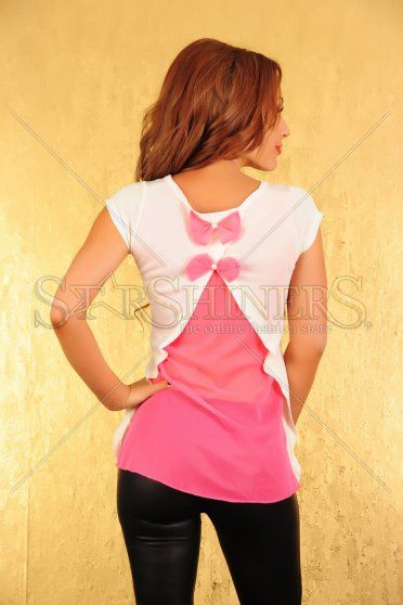 Tricou Ocassion Magic Butterfly White