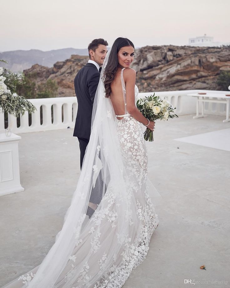 Attractive Backless Mermaid Wedding ceremony Attire 2020 Lace Appliqued Deep V Neck Nation Wedding ceremony Gown With Lining Sweep Prepare Robes De Mariée Silver Wedding ceremony Gown Wedding ceremony Gown Low-cost From Dressvip, $149.5| DHgate.Com