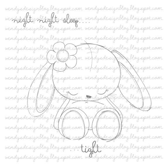 Night night Little One por alldressedupstamps en Etsy