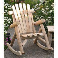 Lakeland Mills CF1125 Rustic Outdoor Rocking Chair