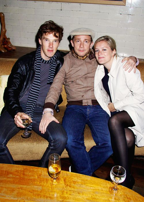 benedict cumberbatch martin freeman and olivia poulet
