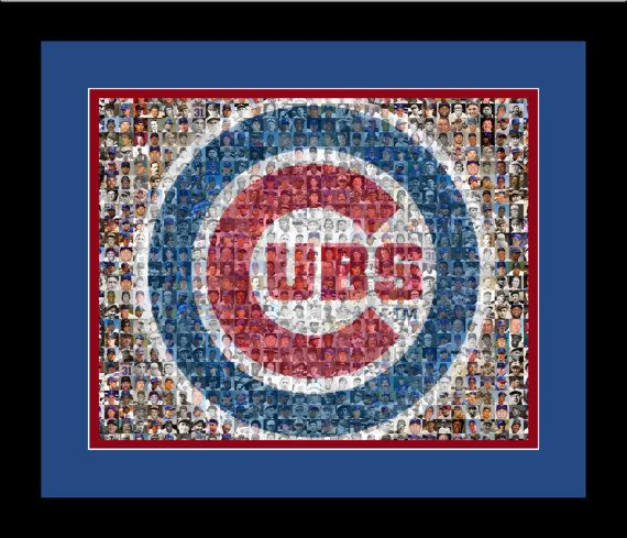Hey, I found this really awesome Etsy listing at http://www.etsy.com/listing/108820329/chicago-cubs-player-mosaic-framed-print