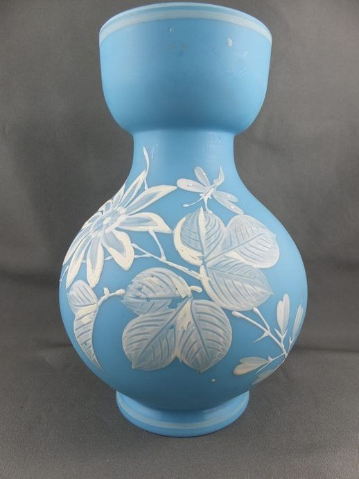 Bohemian Cameo Glass Vase. For sale at All Things Fine and Fanciful on FB.