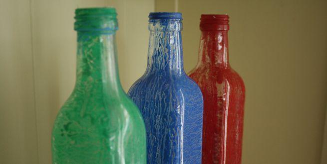 How to: Glazen flessen verven