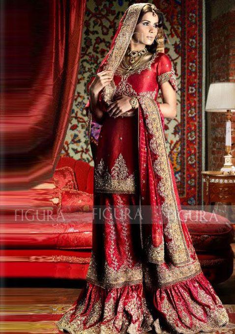 Bridal Farshi Gharara Or Sharara