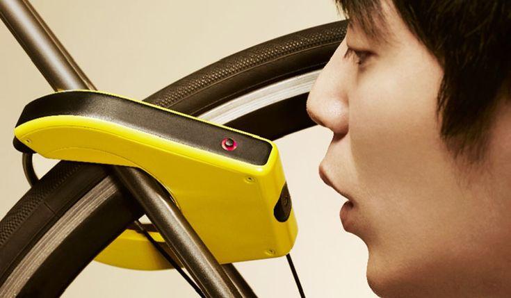 KOOWHO|コーフーアルコール検出機能付き自転車ロック「ALCOHO-LOCK(アルコホロック)」使用イメージ