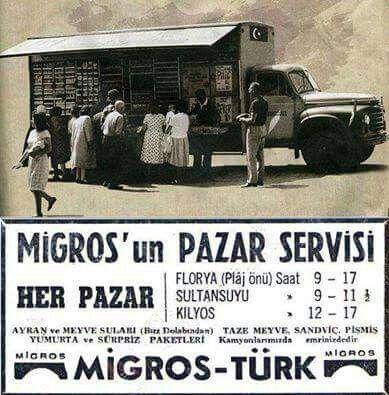 Migros - Türk Pazar günü servisi.