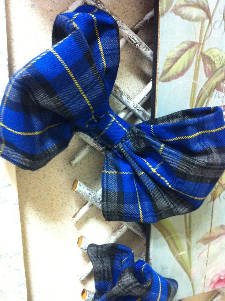 Tartan Decorative Bow Clips  Various Colours