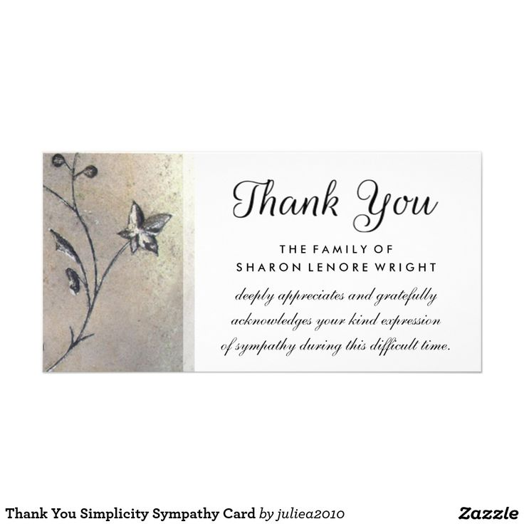 42 best memorial thank you cards images on pinterest sympathy thank you simplicity sympathy card altavistaventures Gallery