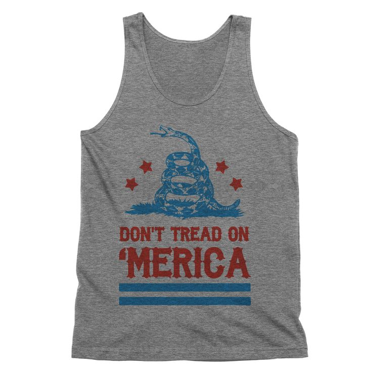 Don't Tread on America Tank Top  #sayings #tees #tops #funny #sassy #womens #clothes #quotes