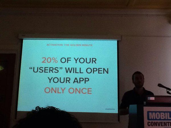 """20% of your """"users"""" will open you app ONLY ONCE!"""