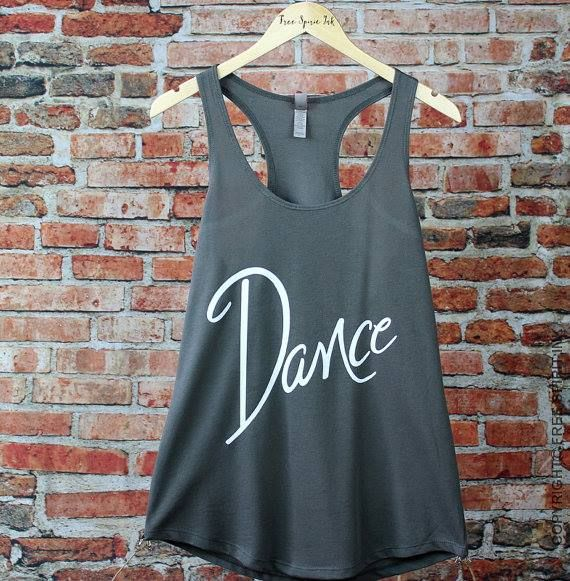 Lightweight and luxurious French terry racerback tank made with a ring-spun cotton and polyester blend for an extremely soft and comfortable fit. This awesome shirt makes the perfect gift for your favorite dancer or dance teacher! 5 colors available with 3 options for text color.  $18.99.  Name can be added for an additional fee.  All About Attitude Dancewear