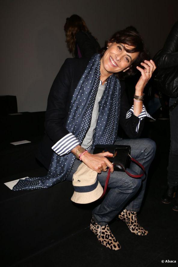#Ines de la Fressange, défilé Carven Printemps-été 2013 de la Fashion Week parisienne.