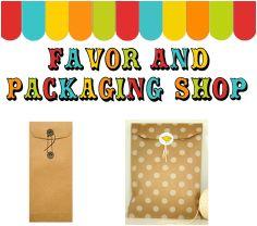 packaging shop, tags, bags, brown kraft, jilly bean kids