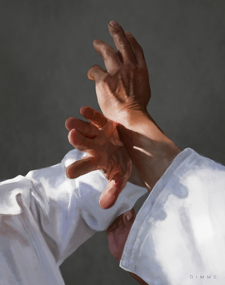 Aikido Hands III – Ikkyo | Digital painting by Dimme McWood | www.monkeyboy.nl