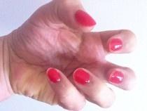 Inspiration Application ... new colour changing agrylic nail polish ..