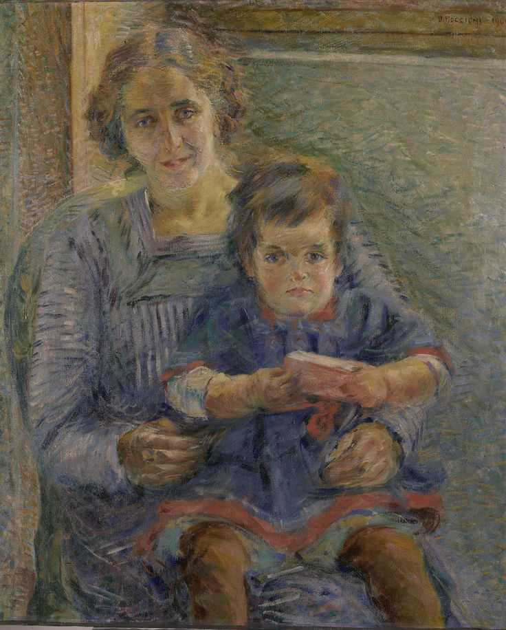 Umberto Boccioni, Portrait of Betty and Nora Baer, 1909