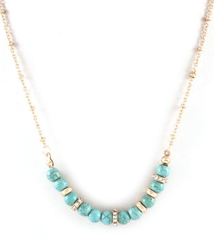 Turquoise Amelia Necklace on Emma Stine Limited