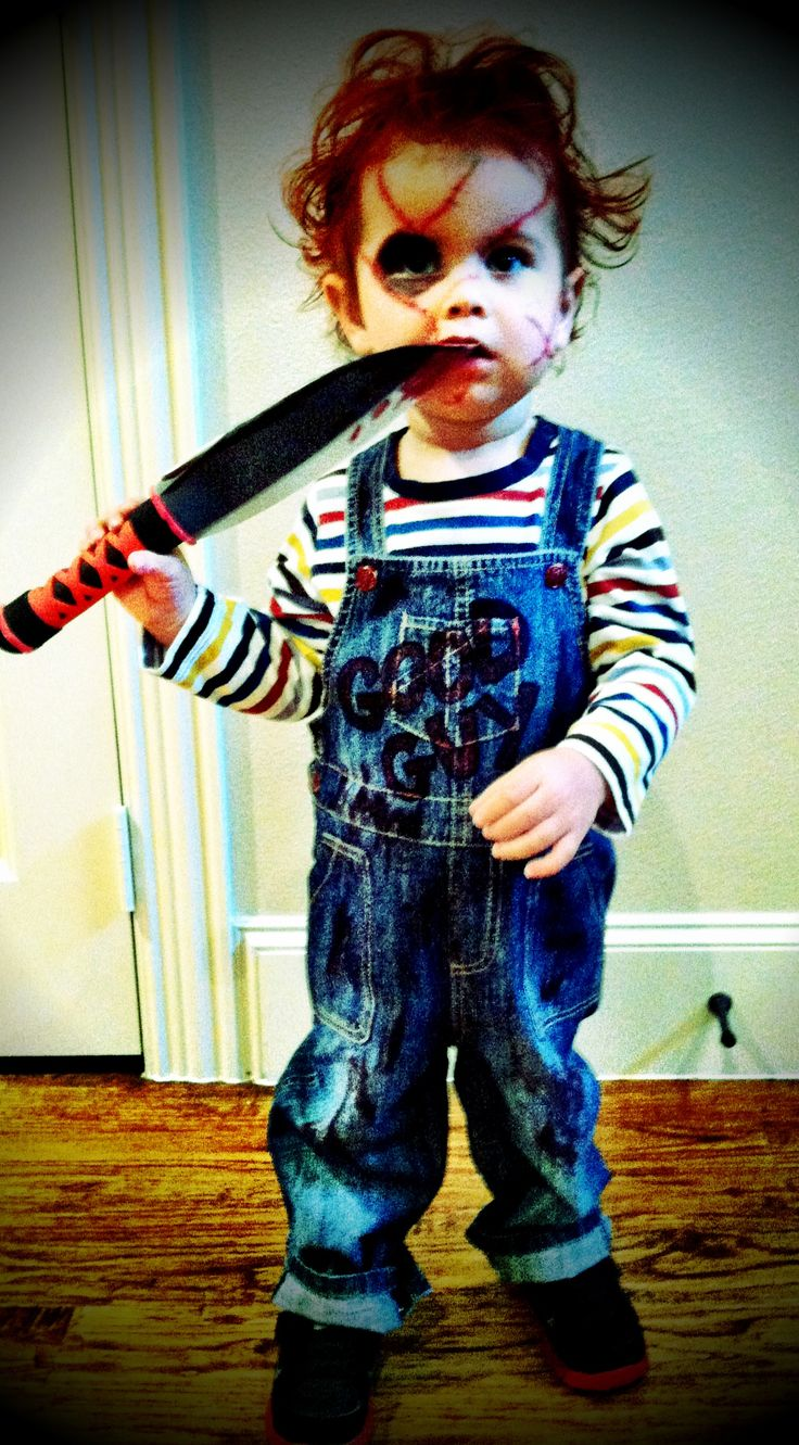 toddler Chucky costume 2012 I can't believe Brad wants Jacob to be Chucky!!
