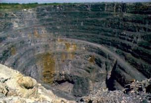 Volcanogentic massive sulfide ore deposit at Kidd Mine, Timmins, Ontario, Canada, formed 2.4 billion years ago on an ancient seafloor. Thumbnail for version as of 15:52, 28 November 2008