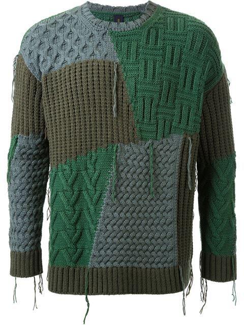 Купить Mihara Yasuhiro лоскутный свитер  в Le Gray from the world's best independent boutiques at farfetch.com. Shop 300 boutiques at one address.