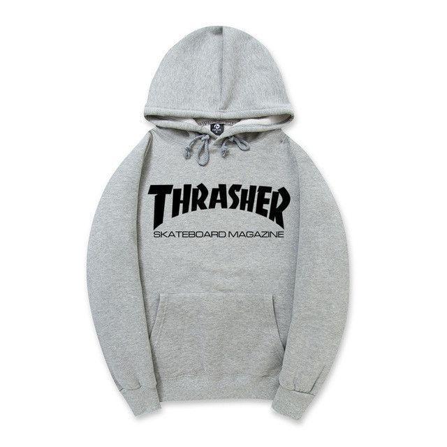Thrasher Hip Pop Hoodies Men Women Skateboard Fleece Men Couples Brand Sweatshirt Pigalle Mens Suits Warm pull trasher #skateboardingwomen