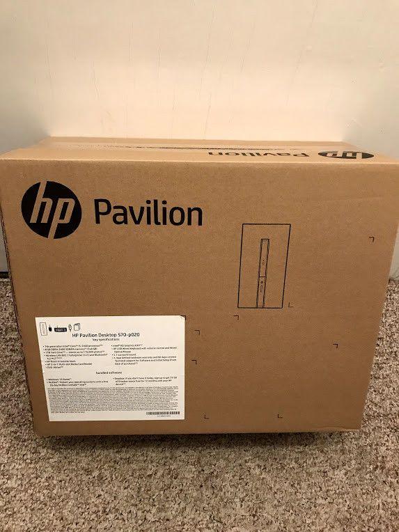HP Pavilion 570-p020 Desktop Intel i5 [7th Gen] i5-7400 8 GB DDR4 1 TB Brand New #HewlettPackard