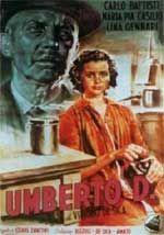 "Movie poster for Vittorio De Sica's ""Umberto D.,"" 1952"