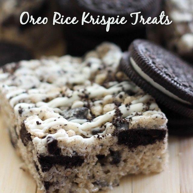 Check out this recipe for Oreo Rice Crispy Treats! No baking involved!