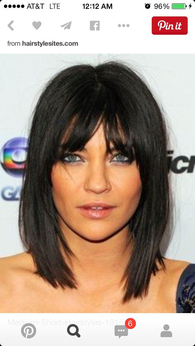 Medium Hair Hair Styles Hairstyles With Bangs Hair