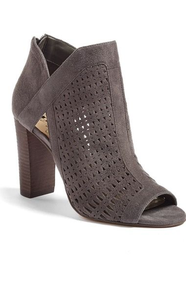 The peekaboo and peep toe styling to these booties will make them perfect for the spring! Vince Camuto Cranita Perforated Bootie (Women) available at #Nordstrom