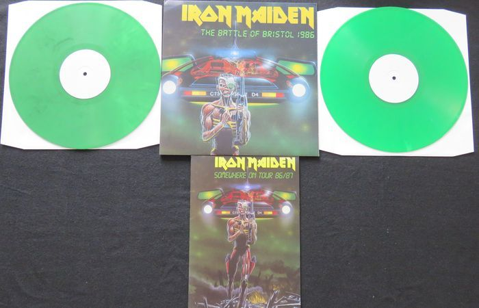 Online veilinghuis Catawiki: Iron Maiden - The Battle Of Bristol 1986: Very limited (300 copies), numbered 2LP on GREEN vinyl, includes replica tourbook