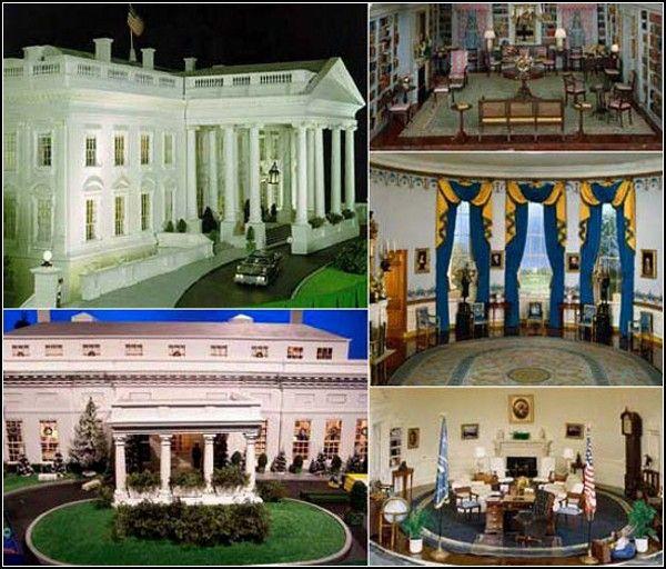 Dollhouse Miniatures Texas: The White House Dollhouse John Zweifel