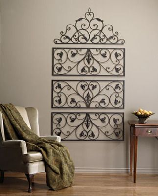 Fairview Rectangle or Arch Iron Scroll Grille