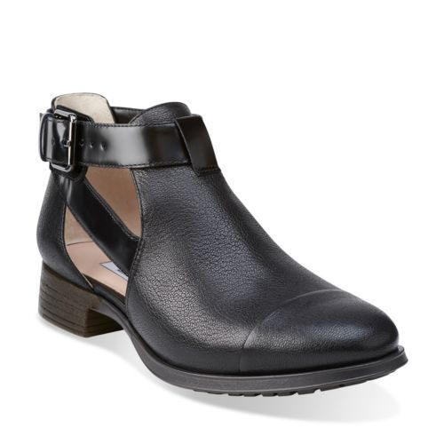 Busby Fresh Black Leather - Clarks Womens Shoes - Womens Heels and Flats -  Clarks -