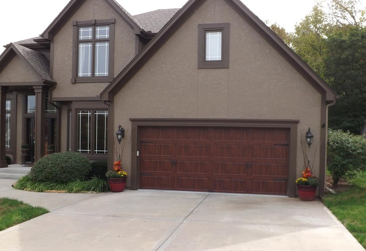 Exceptional Clopay Gallery Garage Door   Ultra Grain Walnut Oak   Wrought Iron Arched  Windows   Parkville Mo   Jv Garage Door And Opener   Carriage Style   Decu2026