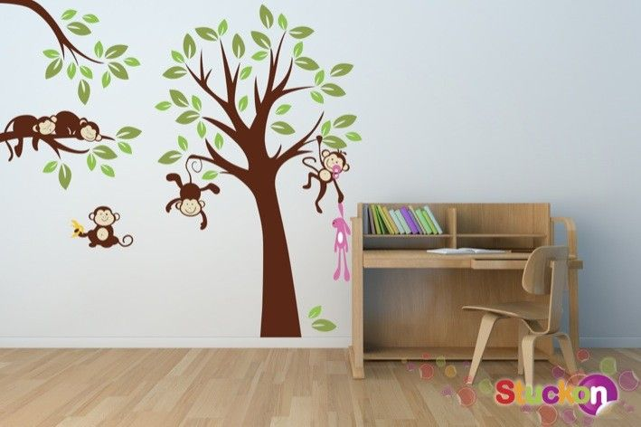 Monkeys playing and Sleeping | stuckon.com.au