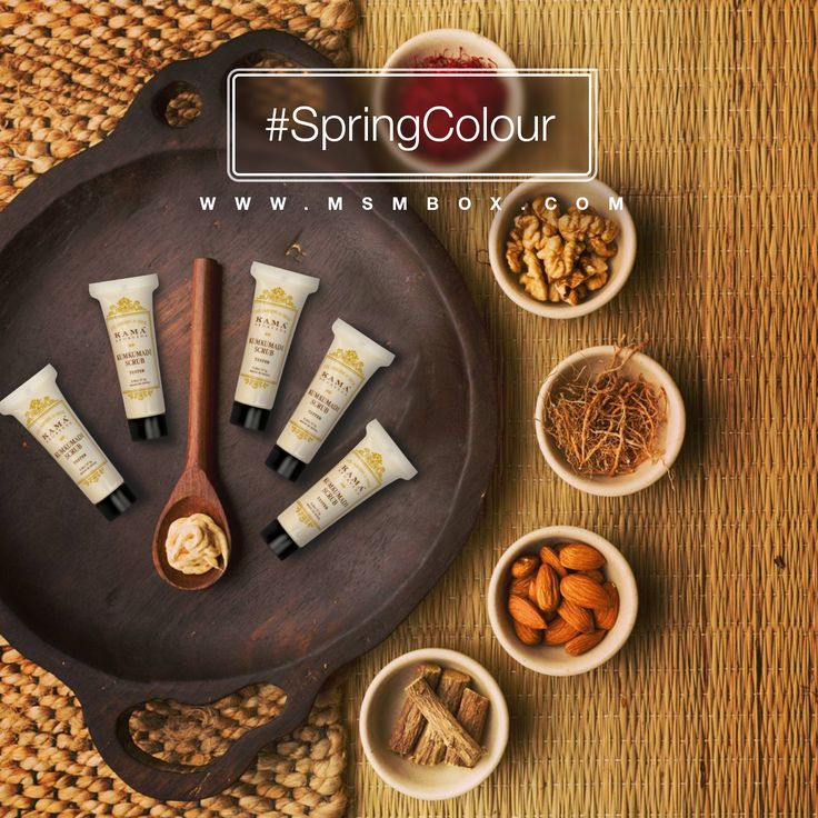 Kumkumadi Brightening Ayurvedic Face Scrub from @KamaAyurveda Available this month in MSM Select #springcolour Box