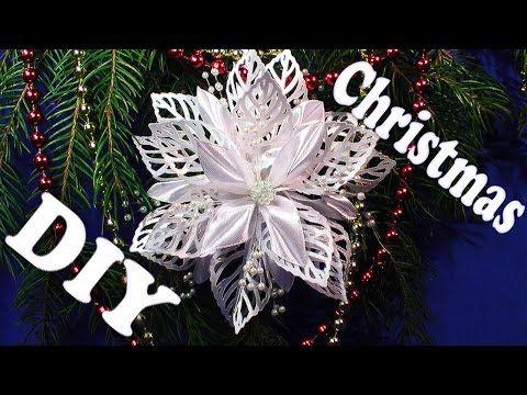 Новогодние украшения Снежинка Канзаши своими руками, Christmas Snowflakes Kanzashi Tatiana Vasyliuk - YouTube