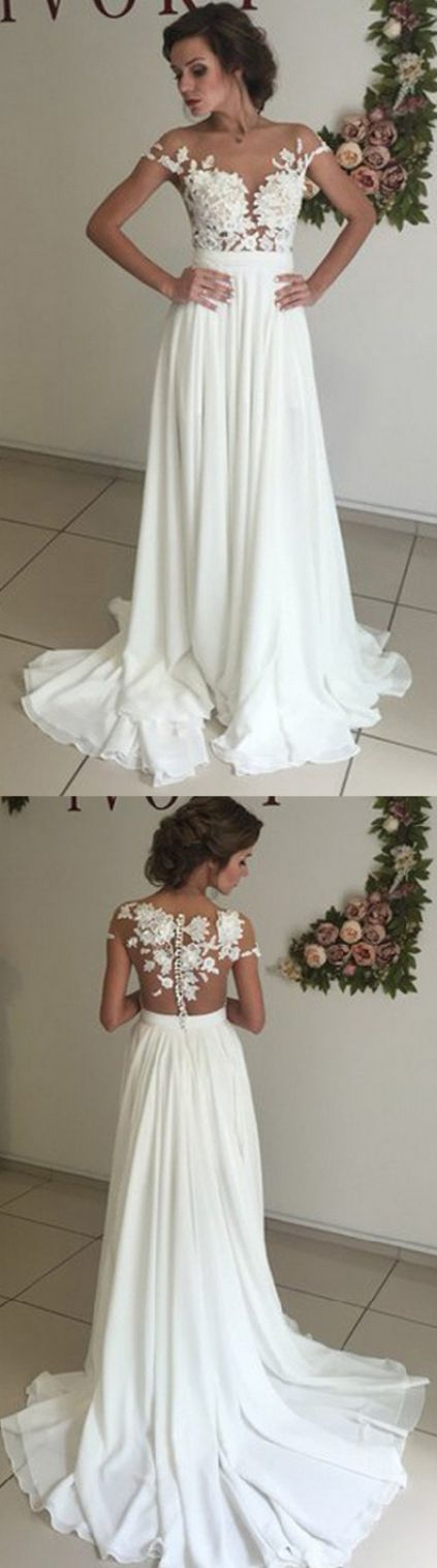 Custom Made White Wedding Dresses Long With Applique Sweep Brush Off The Shoulder Sale Online WF01G48 111