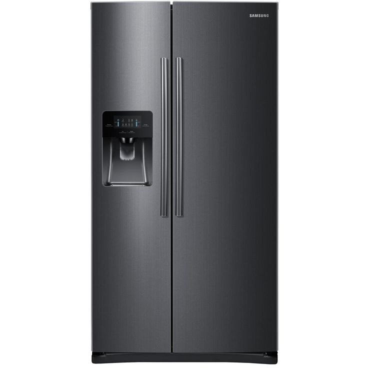 Samsung 24.5 cu. ft. Side by Side Refrigerator in Black Stainless Steel-RS25J500DSG - The Home Depot