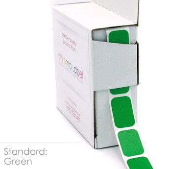 "1/2"" x 3/4"" Color-Code Squares: 500/Box"