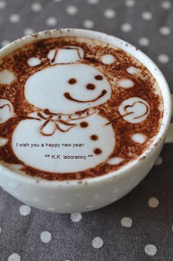 スノーマン&年末のご挨拶 ♥ Coffee